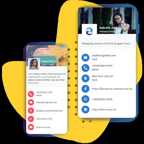 संपर्क रहित डिजिटल व्यवसाय कार्ड